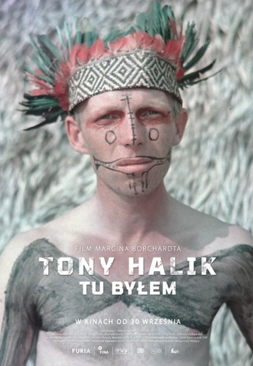 "Plakat filmu dokumentalnego ""Tony Halik – tu byłem"" (film dokumentalny Marcina Borciucha) 2020 r."