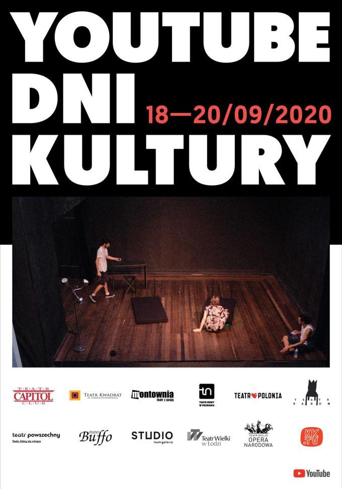 Plakat wydarzenia YouTube Dni Kultury 2020
