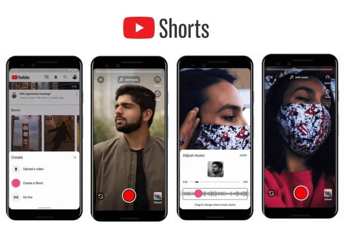 Zrzuty ekranu z YouTube Shorts