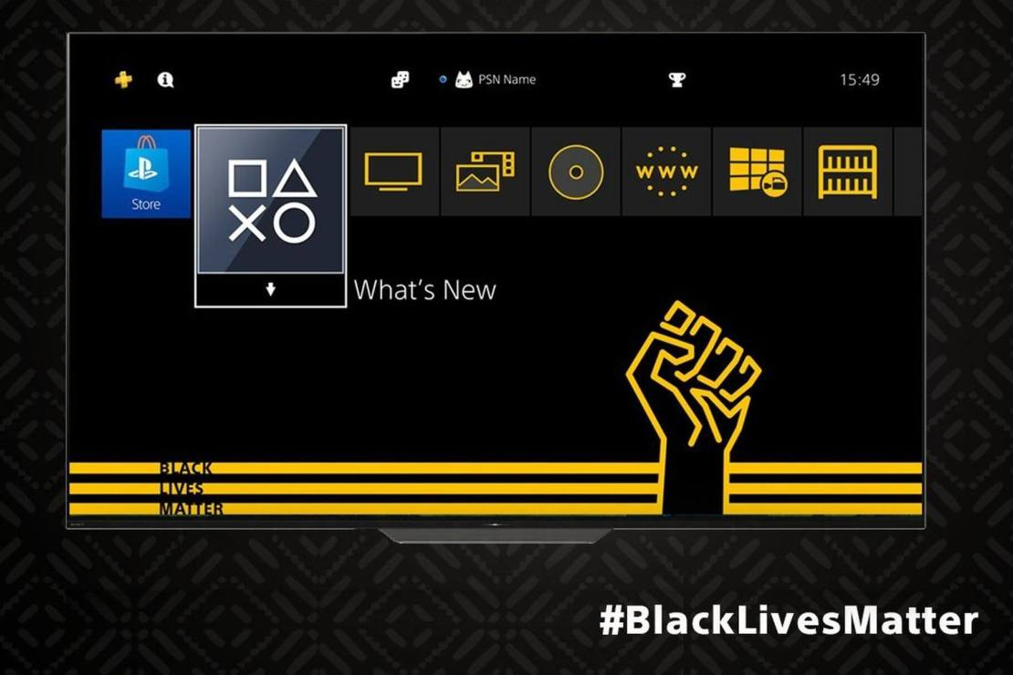 """Motyw """"Black Lives Matter"""" na PS4 firmy Sony"""