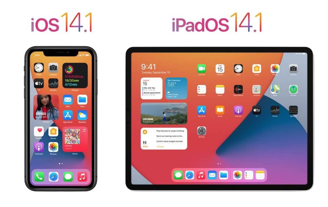 Uaktualnienia iOS 14.1 i iPadOS 14.1