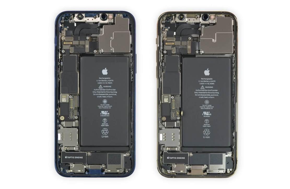 iPhone 12 i iPhone 12 Pro - w środku (bateria)