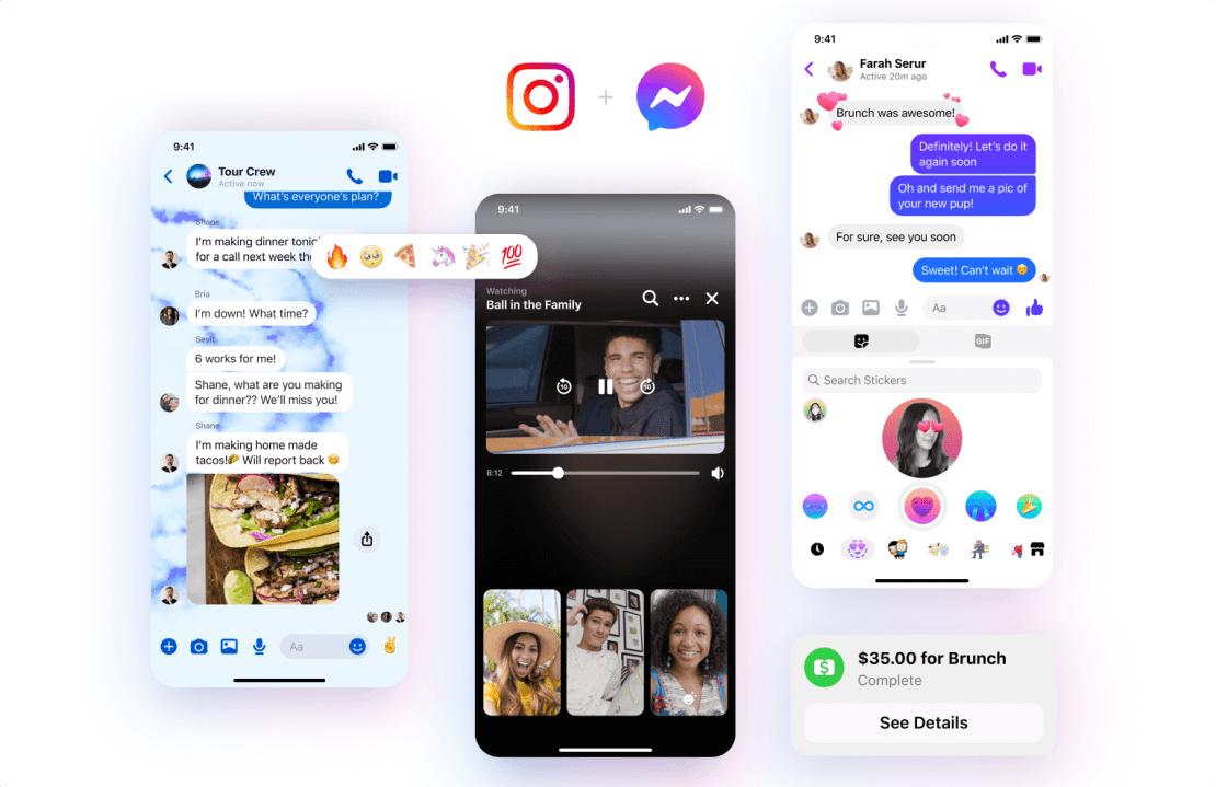 Aktualizacja Messengera - niestandardowe reakcje, nowa ikona i integracja z Instagramem.
