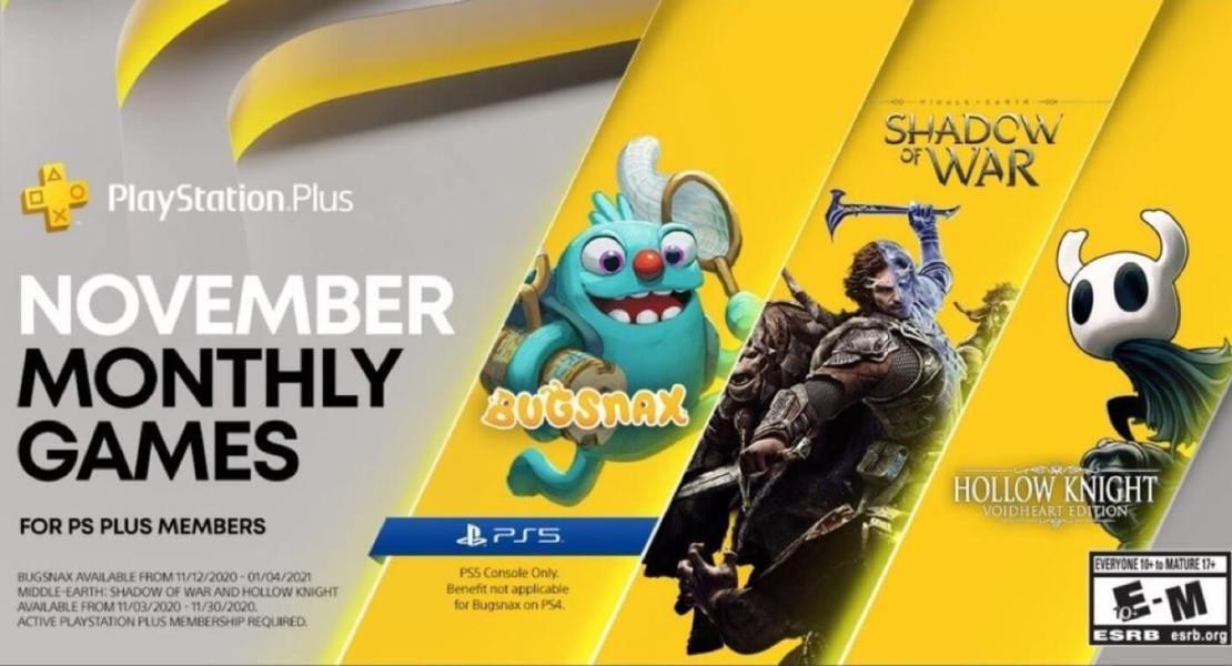 Gry w ramach PS Plus w listopadzie 2020 r.