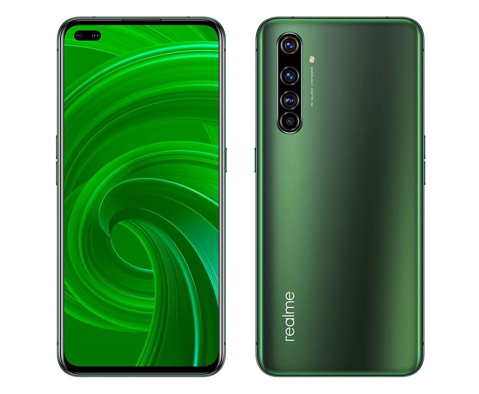 realme X50 5G (zielony – przód i tył)