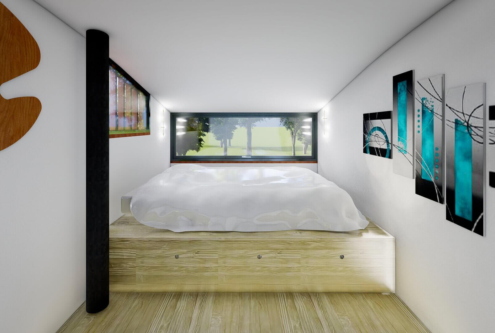 Sypialnia w Natura (Tiny Housing)