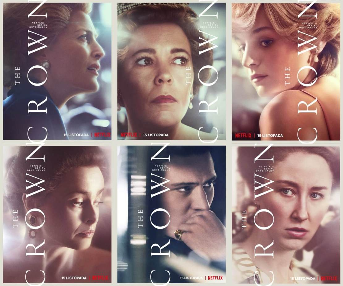 Plakaty do 4. sezonu serialu The Crown (Netflix 2020)
