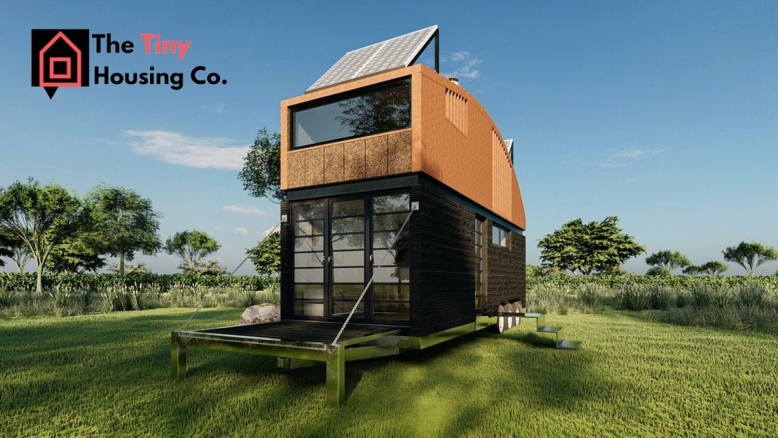 Natura (The Tiny Housing Co.) - ujęcie z przodu na zewnątrz