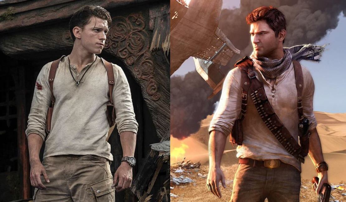 Tom Holland jako Nathan Drake w filmie Uncharted