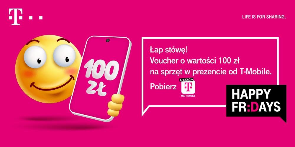 Voucher 100 zł na smartfony w T-Mobile (październik 2020)