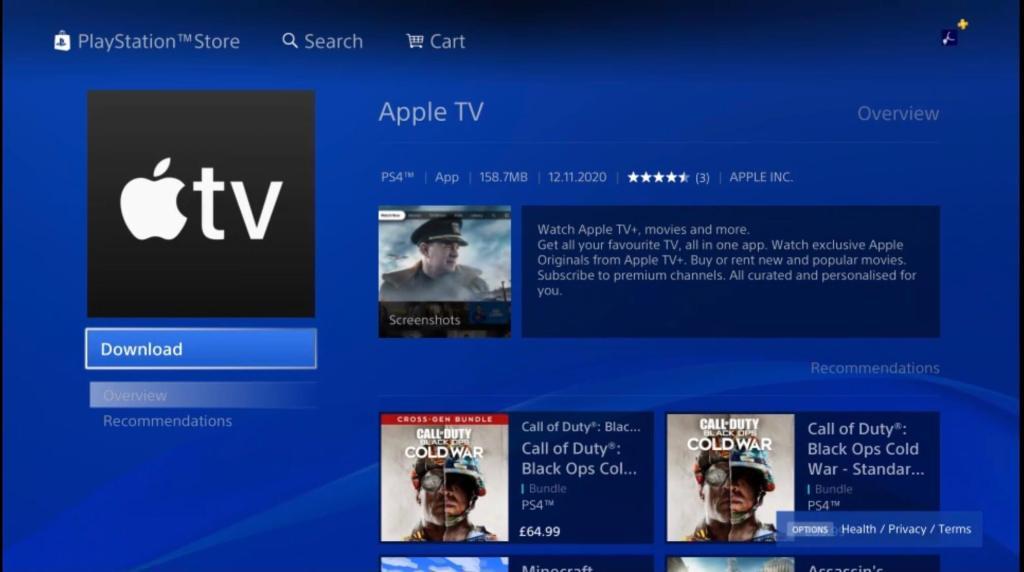 Apple TV app (PlayStation Store)