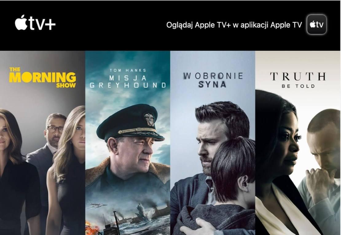 Promocja Apple TV+ do stycznia 2021 - kredyt 24,99 zł/mies.