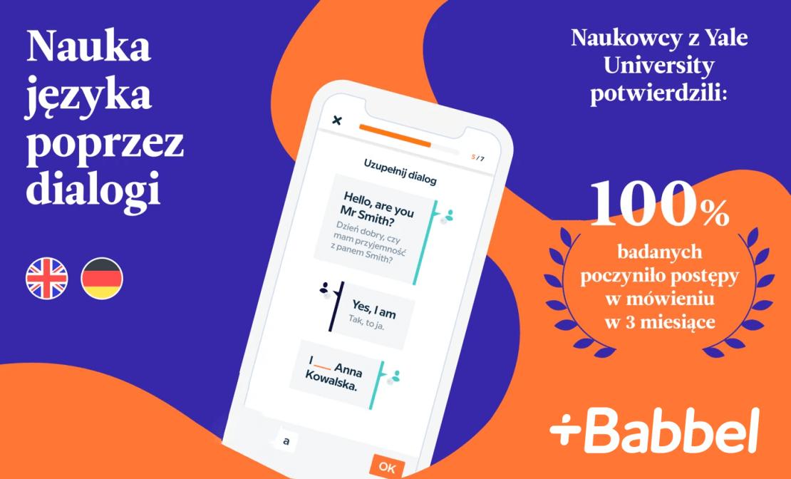 Aplikacja Babbel do nauki języków obcych (angielski i niemiecki)
