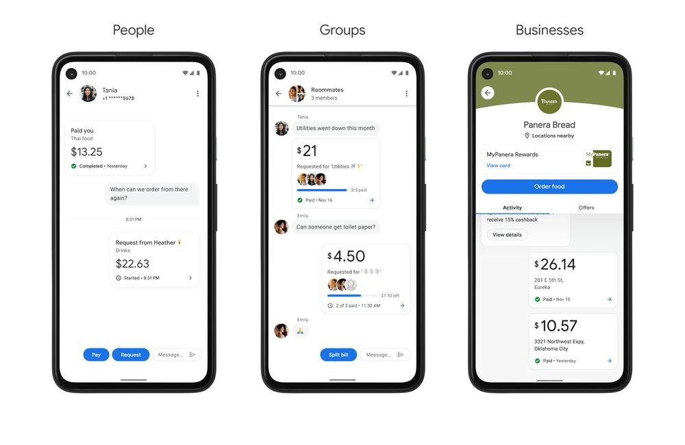 Relacje w Google Pay: Ludzie, Grupy, Firmy