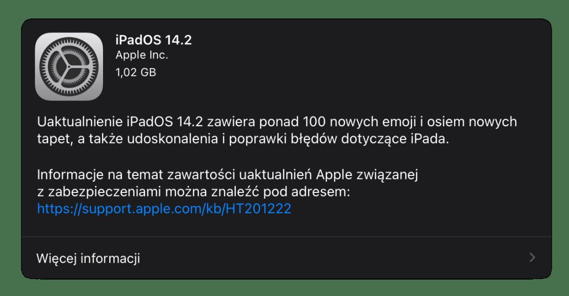 iPadOS 14.2 (finalna wersja uaktualnienia na iPady)
