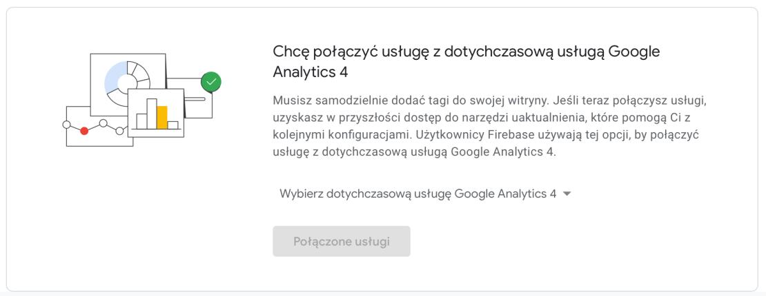 Łączenie dotychczasowej usługi z Google Analytics 4