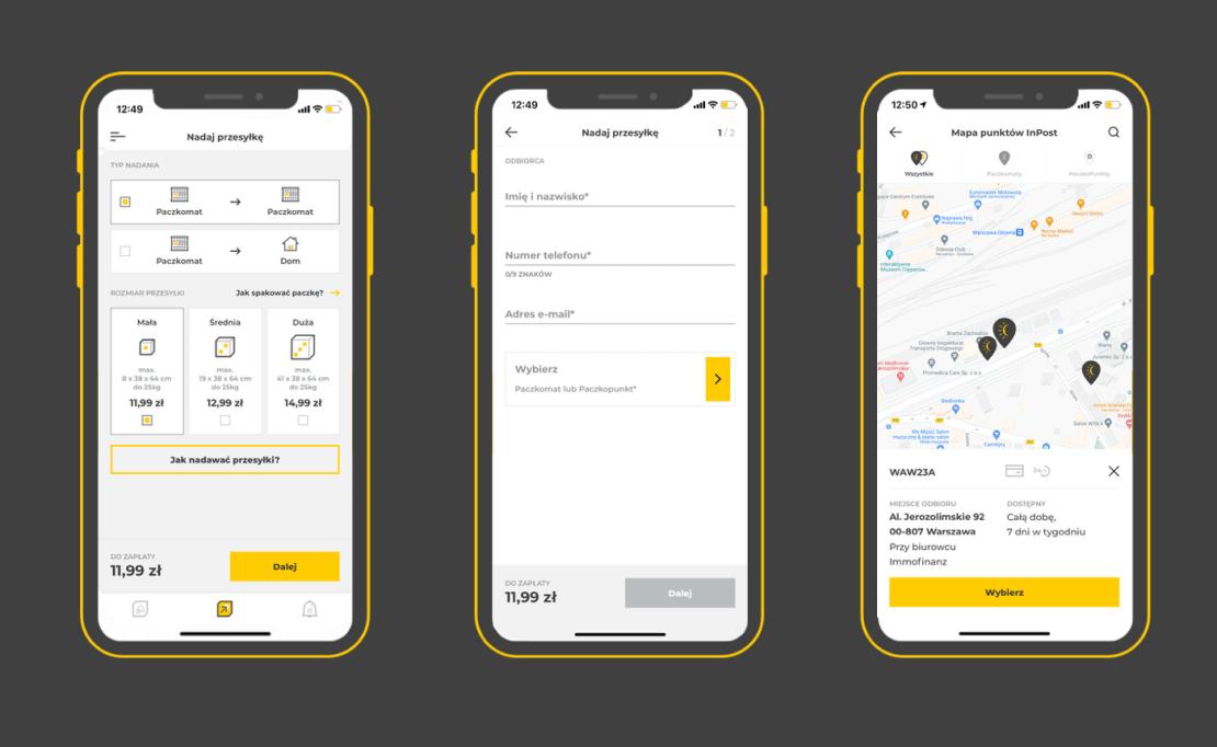 Nadaj przesyłke w aplikacji InPost Mobile bez naklejania etykiety na paczkę