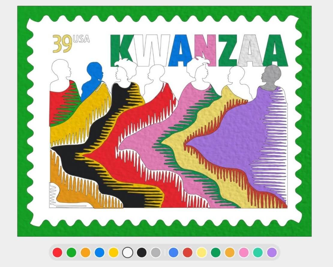 Kolorowanka Kwanzaa (Google Arts & Culture)