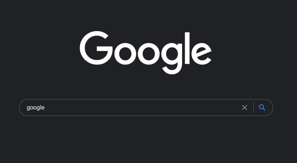 Tryb ciemny w wyszukiwarce Google