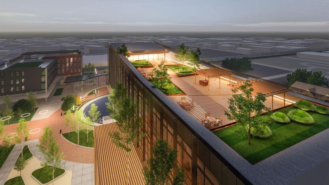 Projekt budynku Apple REJI Center (z góry)