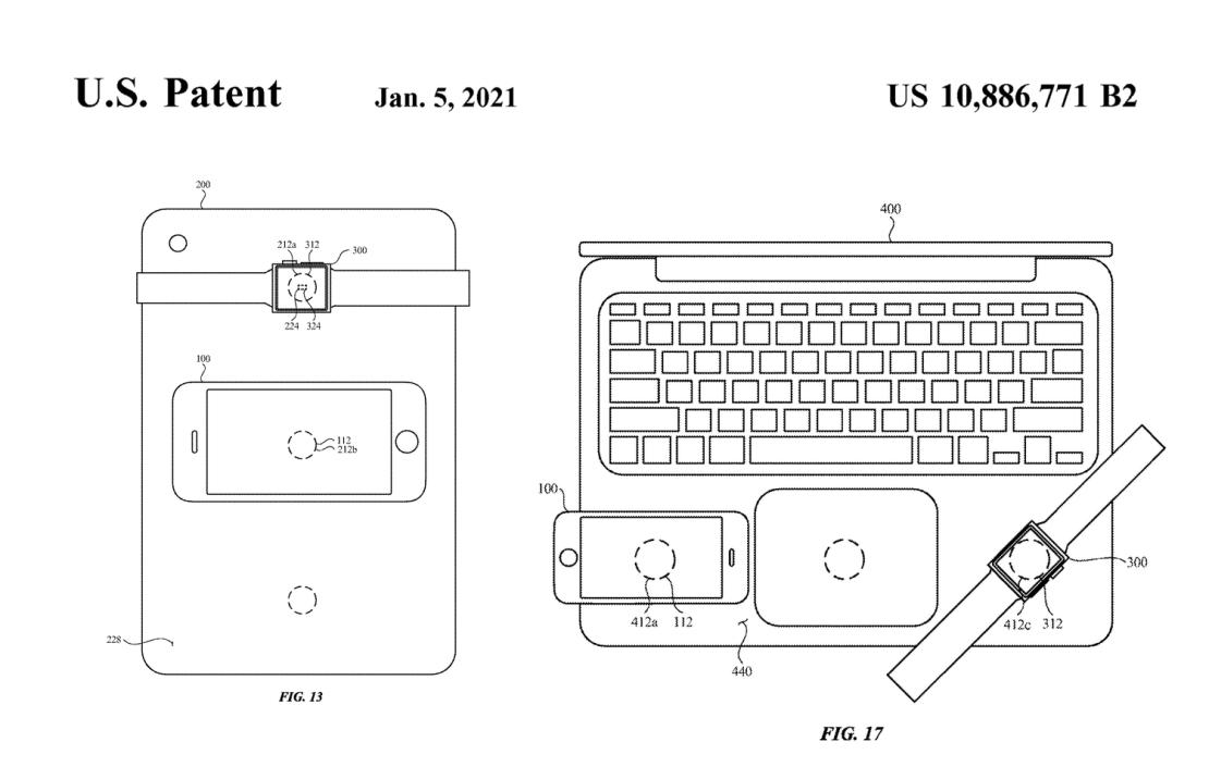 Patent Apple dla ładujących bezprzewodowo urządzeń (5 stycznia 2021)