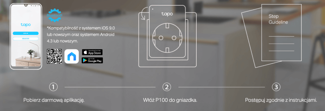 Konfiguracja smart plug Tapo P100