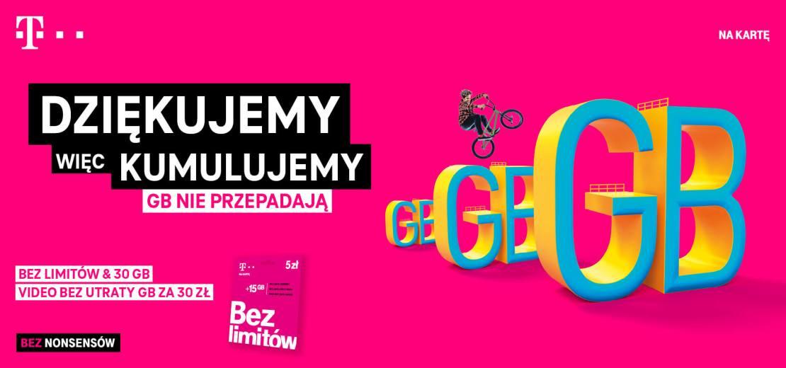 Kumulacja GB w T-Mobile na kartę (GO!)