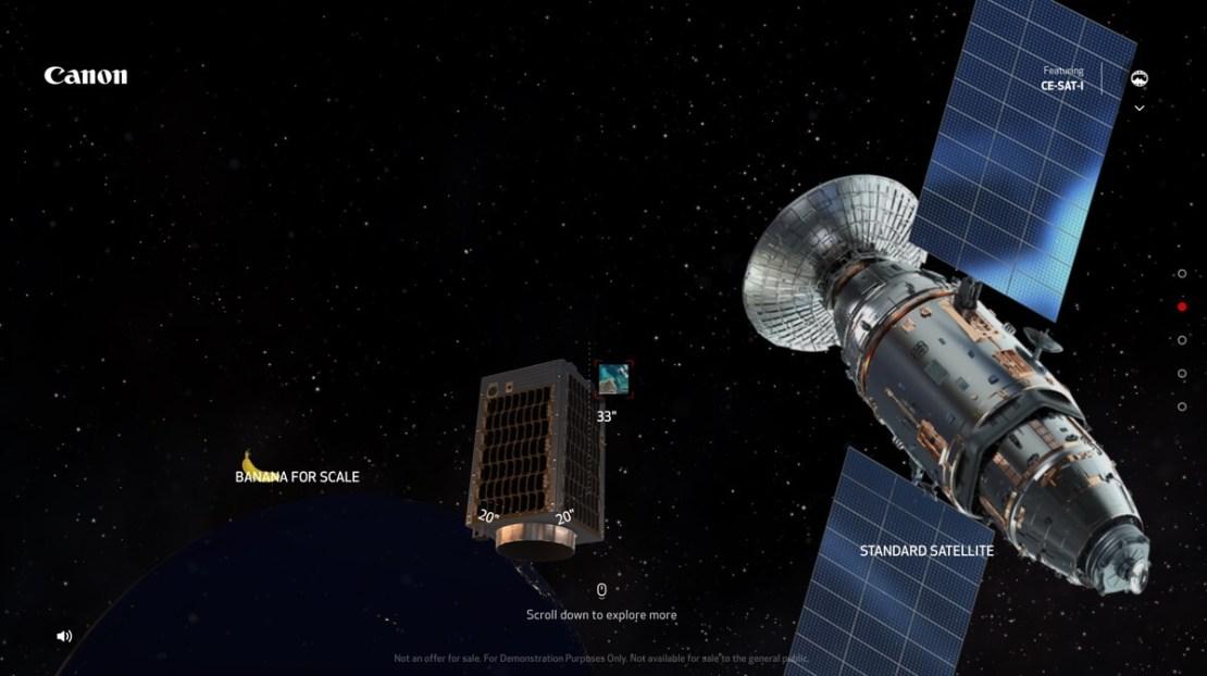 Porównanie wielkości satelitów - skala