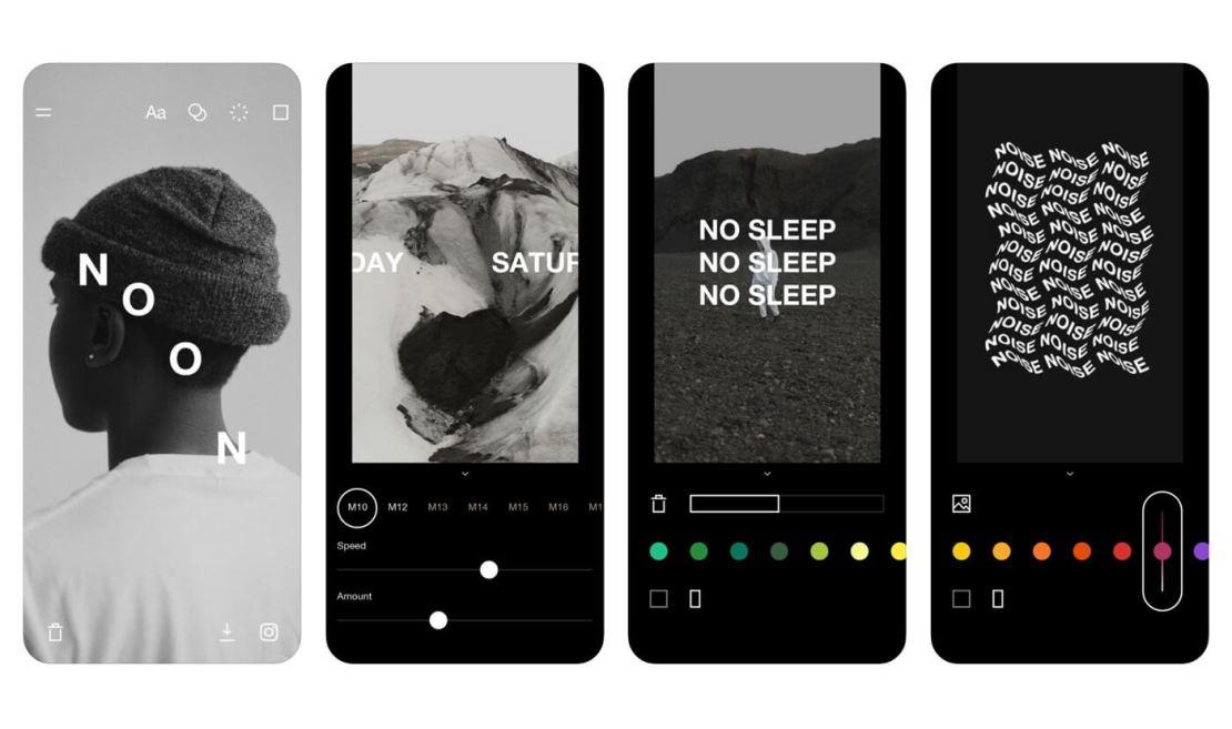 """Zrzuty ekranu z aplikacji mobilnej """"Type Loop"""""""