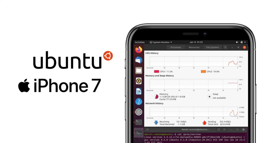 Ubuntu (Linux) na iPhonie 7