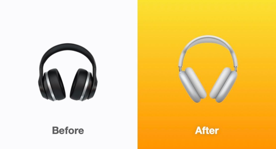 Nowy wygląd emoji słuchawek pod iOS 14.5
