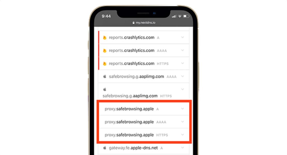 Bezpieczne przeglądanie filtrowane przez serwery proxy firmy Apple – Safari pod iOS 14.5
