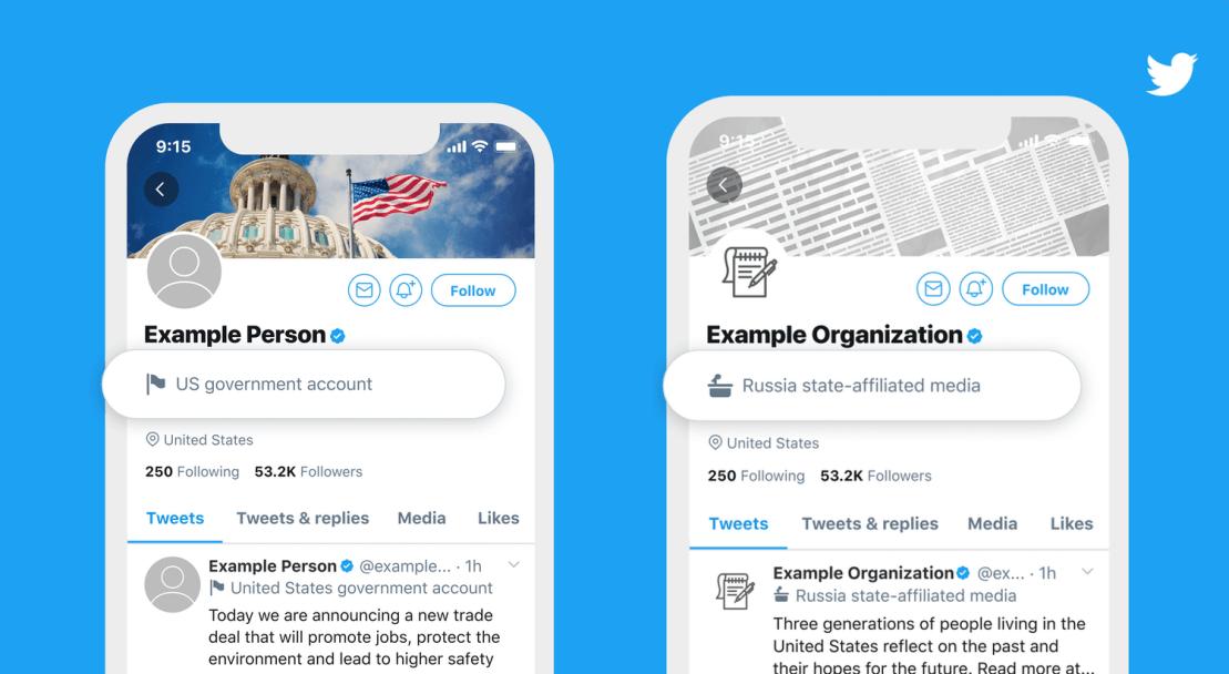 Oznaczenia kont rządowych na Twitterze