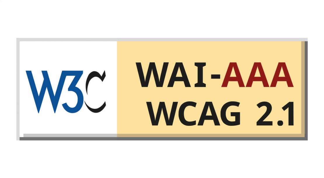 Znaczek WCAG 2.1 WAI-AAA (W3C logo)
