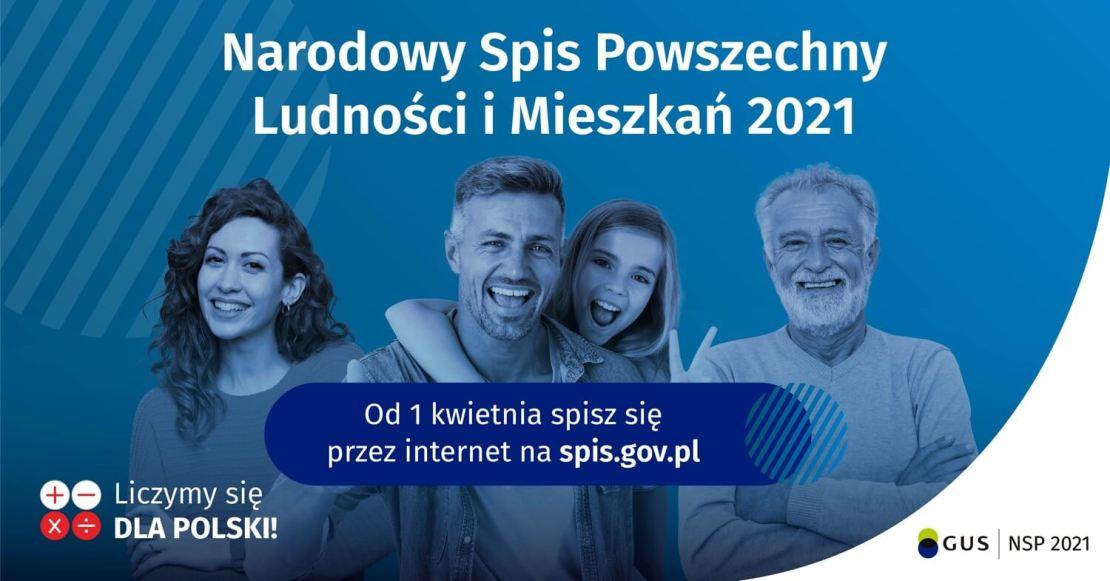 Narodowy Spis Powszechny Ludności i Mieszkań 2021 - banner