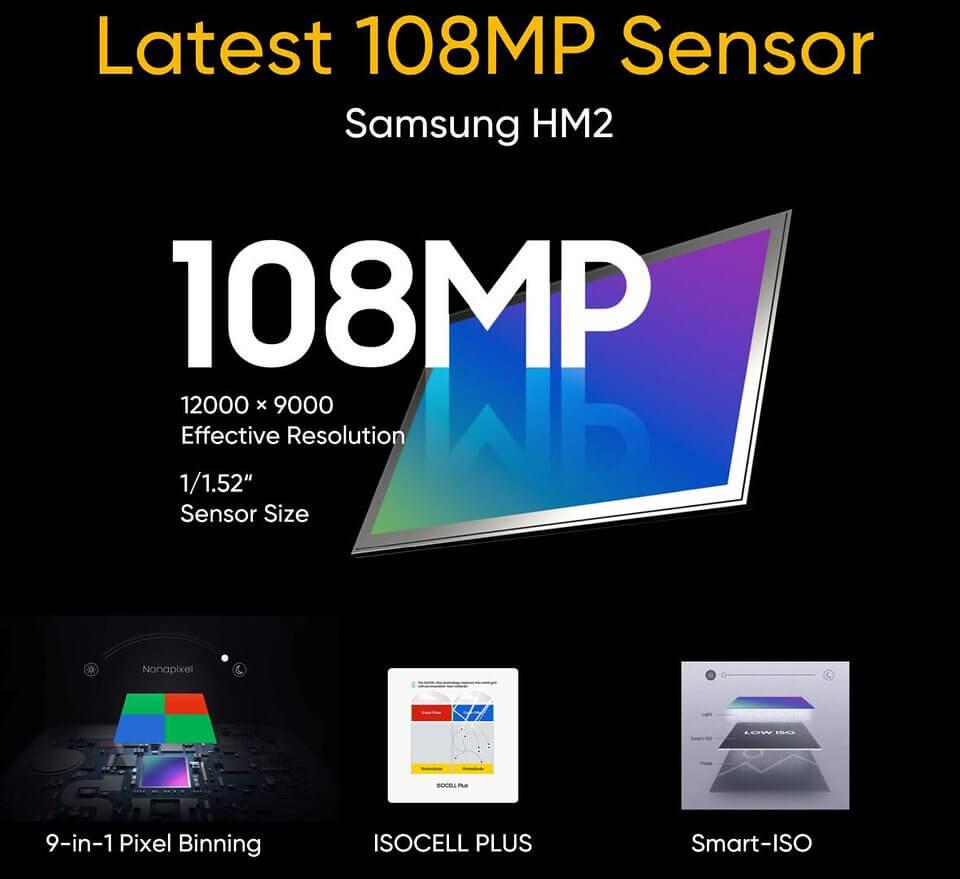 Aparat 108 MP w realme 8 Pro