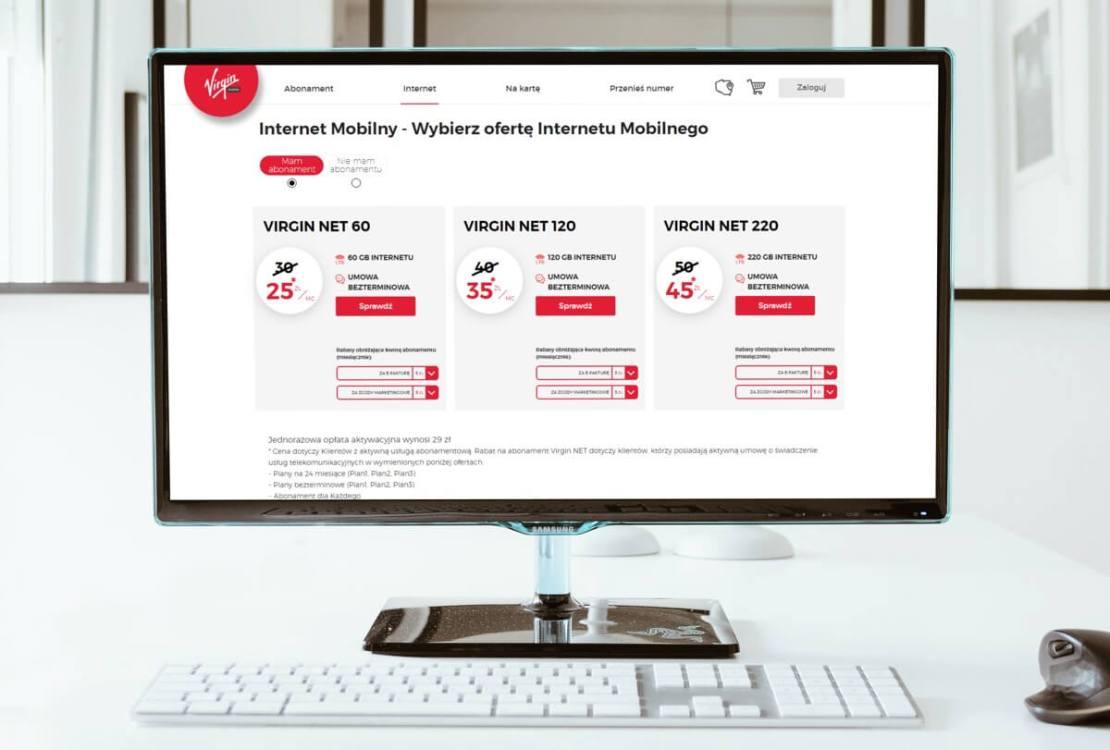 Cennik internetu mobilnego Virgin Net (marzec 2021)