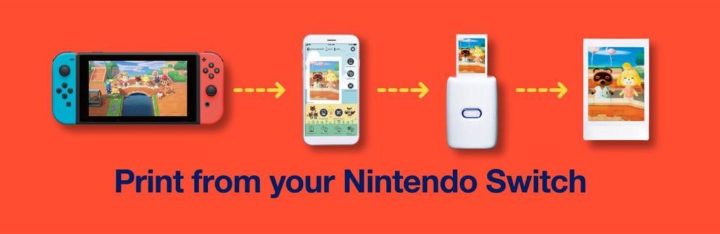 Drukowanie z Nintendo Switch na drukarce Link od Fujifilm