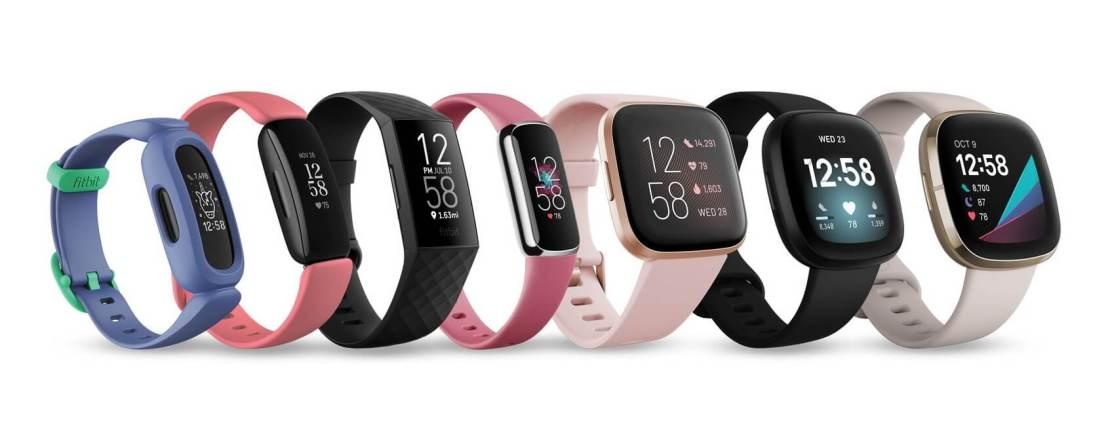 Rodzina produktów Fitbit (2021 rok)