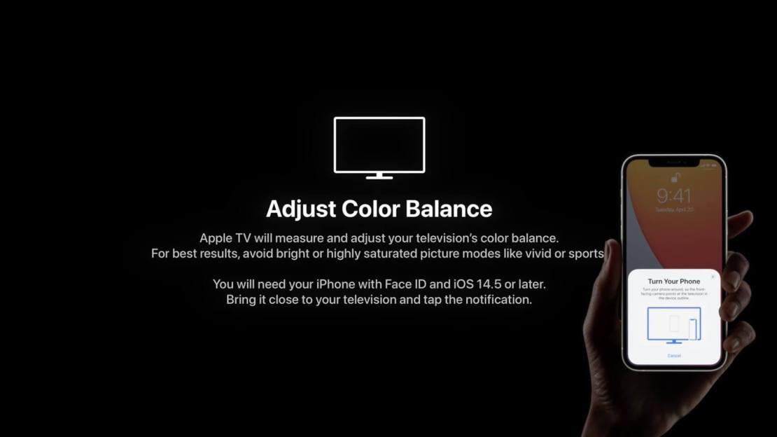 Jak ustawić balans kolorów na Apple TV za pomocą iPhone'a?