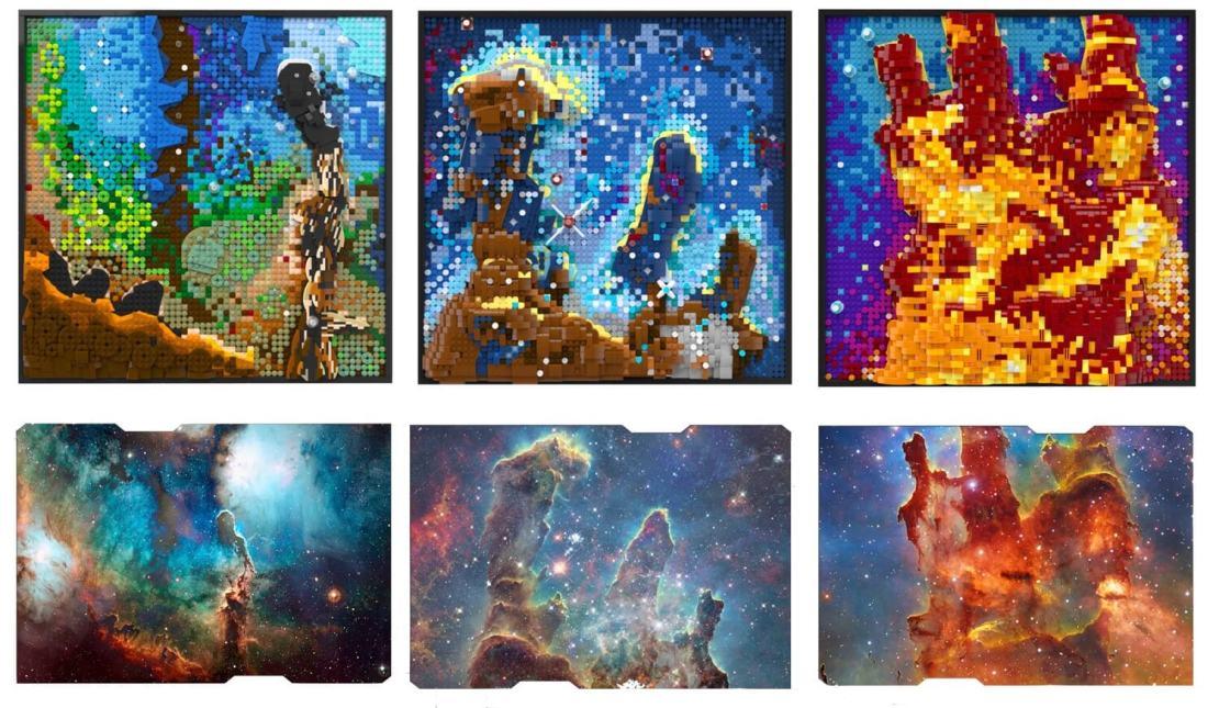 Zdjęcia z teleskopu Hubble'a na obrazkach 3D z klocków LEGO