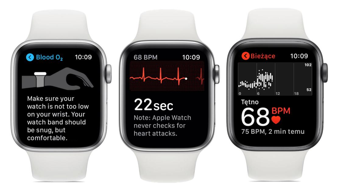 Pomiary zdrowotne na zegarku Apple Watch