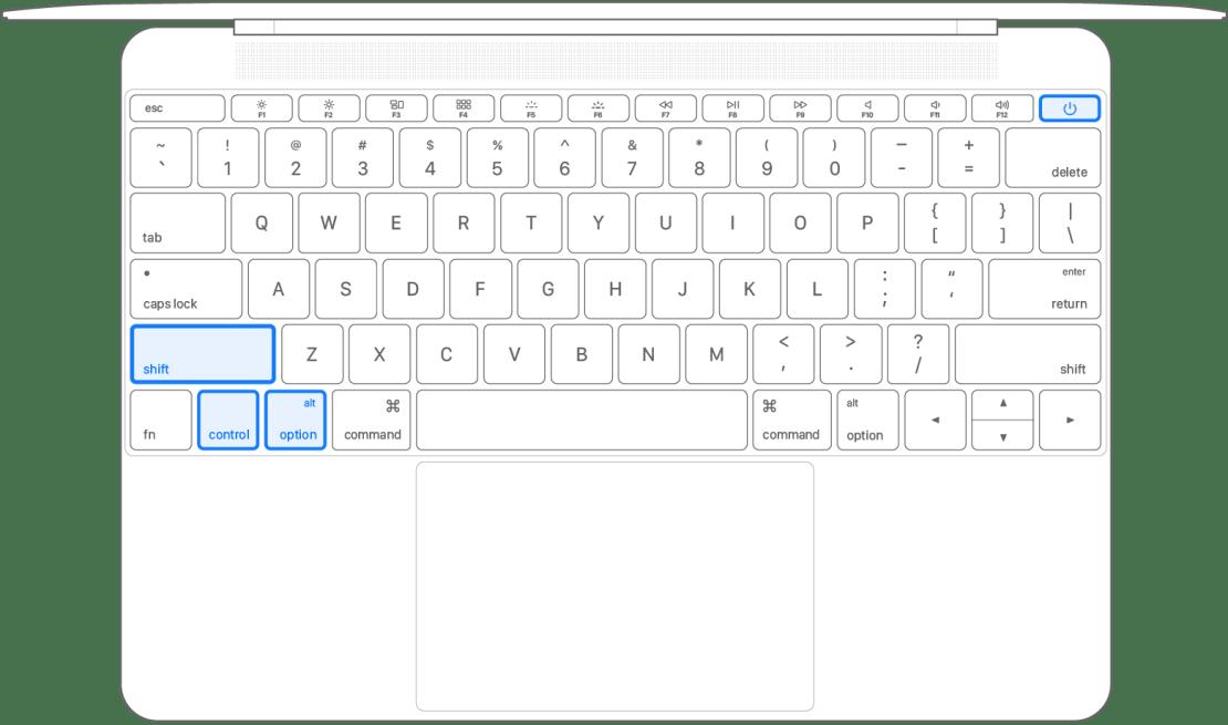 Kombinacja klawiszy resetu SMC na MacBookach (2009-2017)