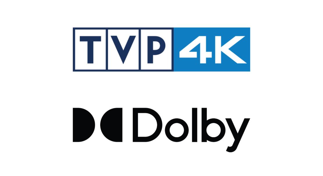 logo TVP 4K oraz Dolby