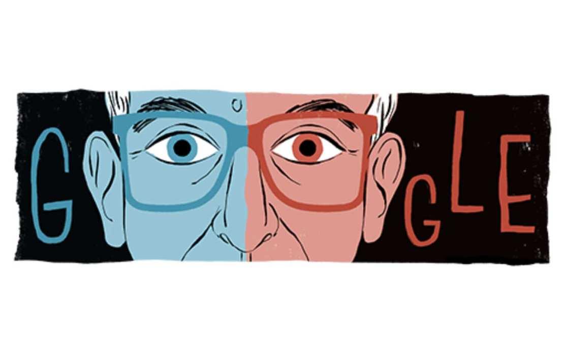 Google Doodle z 27 czerwca 2021 roku: Krzysztof Kieślowski — 80. rocznica urodzin