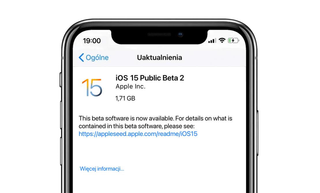iOS 15 Public Beta 2 (OTA download)