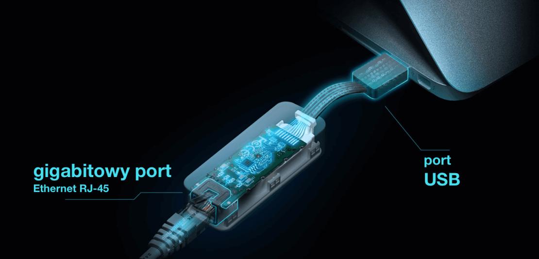 Budowa gigabitowej karty sieciowej TP-Link UE305 (USB 3.0)