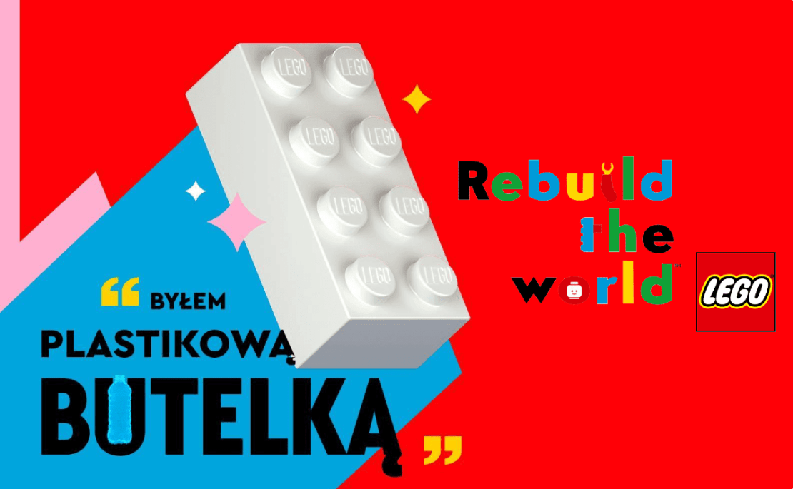 Klocek LEGO pochodzący z recyklingu (Rebuild the world)
