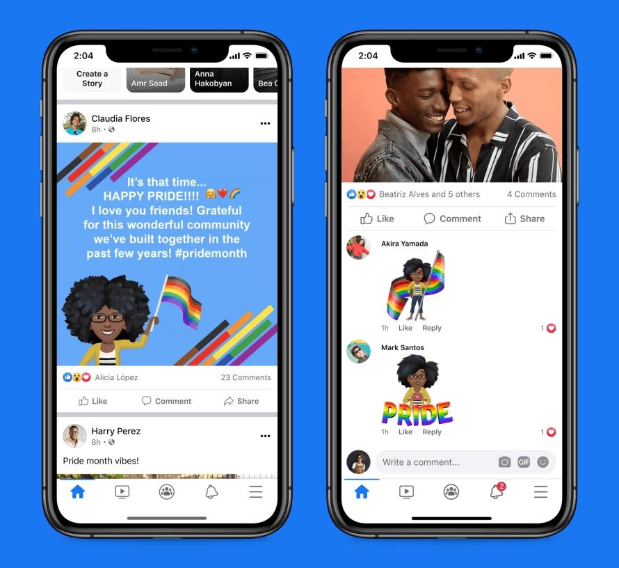 Miesiąc Dumy 2021 w aplikacji Facebook