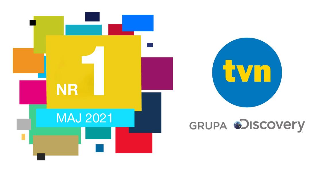 TVN Grupa Discovery nr. 1 w Polsce w maju 2021 roku